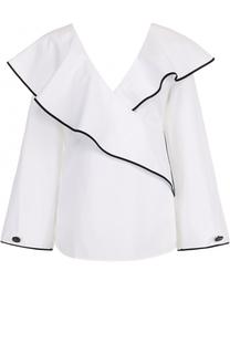Блуза с оборками и контрастной отделкой Diane Von Furstenberg