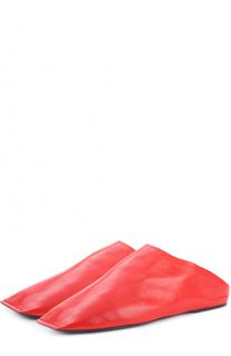 Кожаные сабо с мягким задником Balenciaga