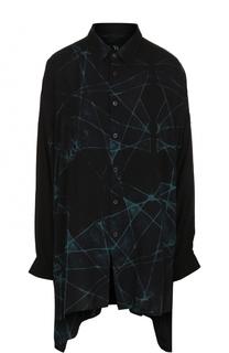 Блуза свободного кроя с принтом Yohji Yamamoto
