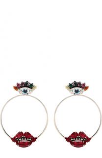 Серьги-кольца с кристаллами Swarovski Anton Heunis
