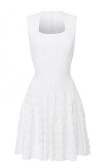 Приталенное платье с квадратным вырезом Alaia