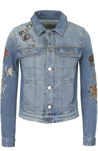 Укороченная джинсовая куртка с вышивкой Zadig&Voltaire