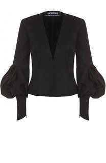 Приталенная блуза с V-образным вырезом Jacquemus