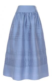 Шелковая юбка-миди с широким поясом Giorgio Armani