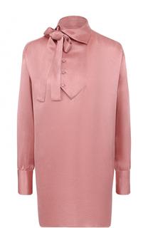 Удлиненная блуза прямого кроя с воротником аскот Valentino