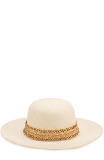 Соломенная шляпа с плетеной повязкой Inverni
