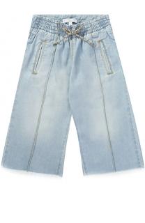Укороченные джинсы свободного кроя с бахромой Chloé