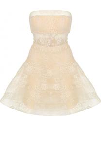 Кружевное платье-бюстье с пышной юбкой Basix Black Label