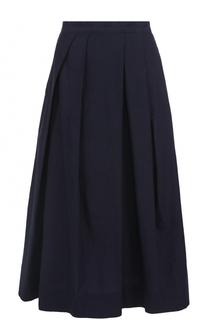 Хлопковая юбка-миди с защипами Yohji Yamamoto