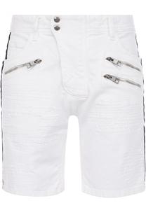 Джинсовые шорты с контрастной отделкой Just Cavalli