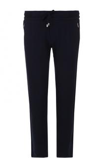 Хлопковые брюки прямого кроя с поясом на резинке Capobianco