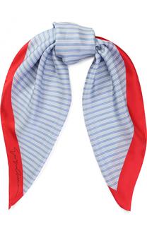Шелковый платок в полоску Giorgio Armani