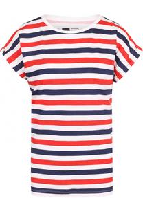 Хлопковая футболка в контрастную полоску Dedicated