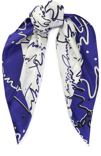 Шелковый платок с принтом Giorgio Armani