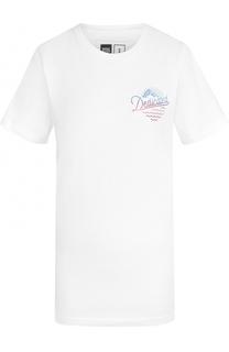 Удлиненная футболка с принтом Dedicated