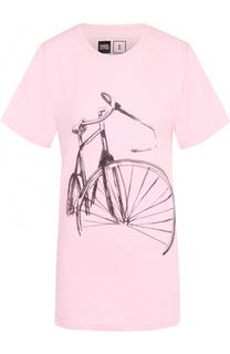 Удлиненная футболка прямого кроя Dedicated