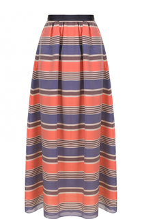 Шелковая юбка-макси в полоску Armani Collezioni