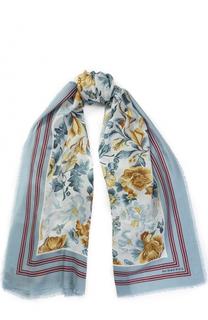 Кашемировый шарф с принтом Burberry