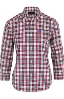 Блуза в клетку с укороченным рукавом Dsquared2