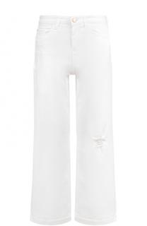 Укороченные расклешенные джинсы с потертостями Armani Jeans