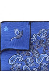 Шелковый платок с узором пейсли Canali