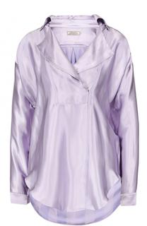 Блуза свободного кроя с отложным воротником Nina Ricci