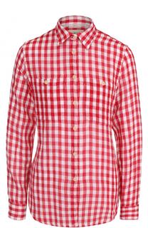 Хлопковая блуза свободного кроя в клетку Denim&Supply by Ralph Lauren