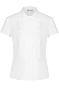 Блуза с коротким рукавом и оборками REDVALENTINO