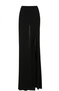 Широкие брюки с высоким разрезом Balmain