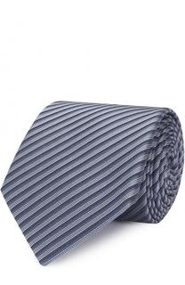 Шелковый галстук в полоску Armani Collezioni