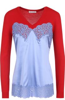 Комбинированный пуловер с V-образным вырезом Altuzarra