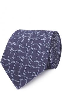 Шелковый галстук с узором пейсли Armani Collezioni