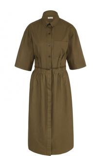 Хлопковое платье-рубашка Dries Van Noten