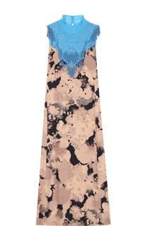 Платье А-силуэта с контрастной отделкой Dries Van Noten