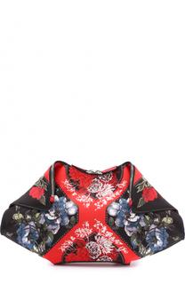 Клатч De Manta из текстиля с принтом Alexander McQueen