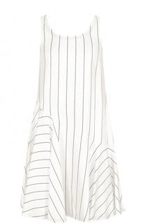 Мини-платье в полоску с оборкой Giorgio Armani