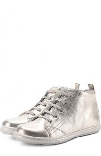 Кеды из металлизированной кожи на молнии со шнуровкой Beberlis