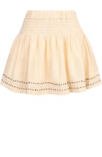 Мини-юбка с эластичным поясом и металлизированной отделкой Isabel Marant Etoile