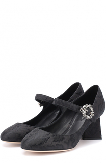Парчовые туфли на фигурном каблуке Dolce & Gabbana