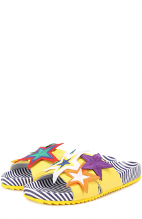 Кожаные шлепанцы с аппликациями Mira Mikati