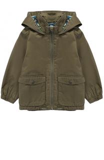 Хлопковая куртка с накладными карманами и капюшоном Stella McCartney
