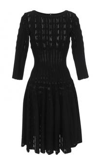 Приталенное платье с укороченными рукавами Alaia