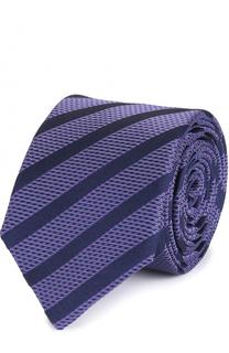 Шелковый галстук в полоску HUGO