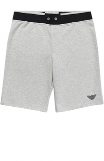 Хлопковые шорты с контрастной отделкой Giorgio Armani