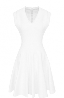 Мини-платье с фактурной отделкой и V-образным вырезом Alaia