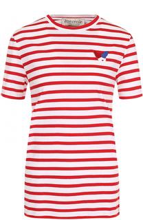 Хлопковая футболка в контрастную полоску Etre Cecile