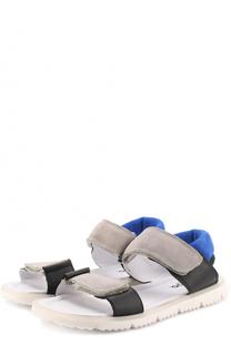 Кожаные сандалии с застежками велькро Jog Dog