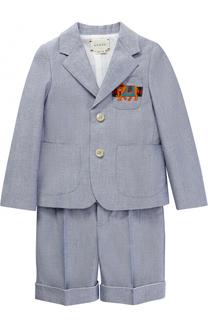 Хлопковый костюм с вышивкой Gucci