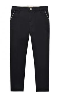 Хлопковые брюки и контрастной отделкой Giorgio Armani