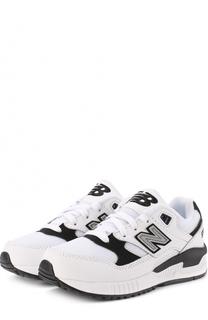 Кожаные кроссовки 530 с текстильной вставкой New Balance